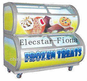 2 Tier Display Freezer Ideal for storing chocolate, drinks, ice cream, frozen food etc.