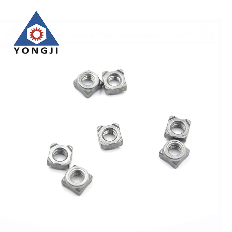 High Precision Stainless Steel Customized Square M8 Weld Nut