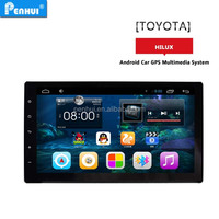 pen-hui android 4.4 9 inch car dvd gps auto navi radio fits for toyota hilux Support +Wifi+3G+RDS+mirror-link+free map