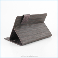 "wood grain 7"" 8"" universal texture H PU PC cases"