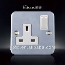 metal face BS standard 13A switches socket, HL004
