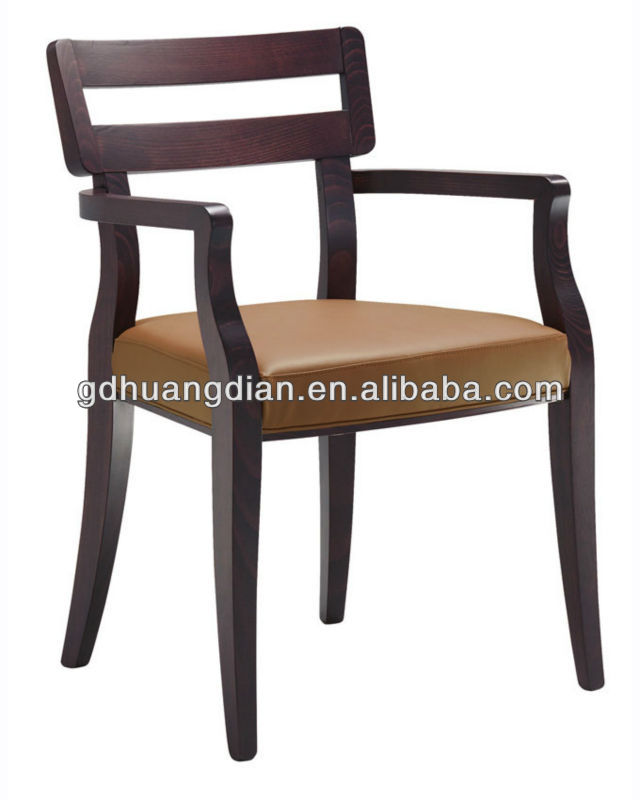 Modern leather and wood armchair HDAC311