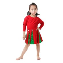 Early Autumn Red Dresses with Flower Decorated Baby Frock Designs for Western Girls Party Wear