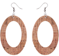 Wholesale hollow hoop leather earring new colored hoop earrings women leather earring