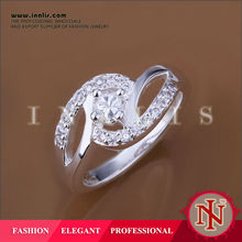 925 silver rhodium plated jewelry,silver rings for women LKNSPCR142