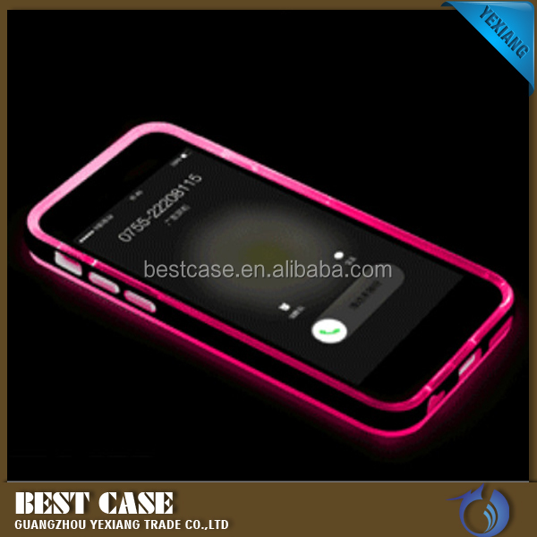 Cool Flash Light Case For Iphone 5C, Light Up Case For Iphone 5C TPU + PC