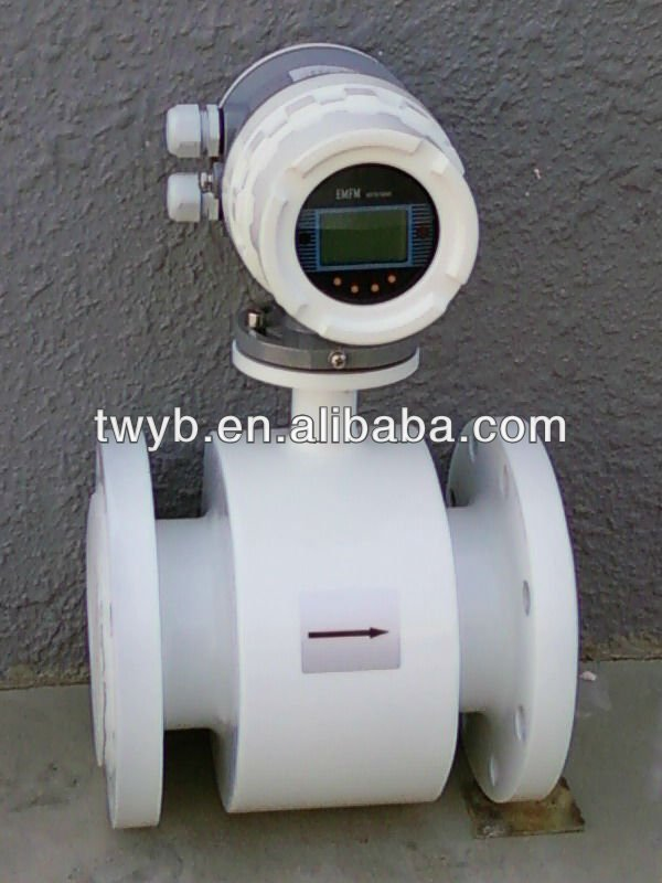 PTFE/flange connection/digital water electromagnetic flow meter