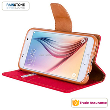 Cash Pocket Woven Flip Media Stand Case for Samsung Galaxy, For Samsung Wallet Case