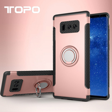 360 Degree Rotating Ring Stand case TPU PC Armor phone cover For Iphone For Samsung Galaxy Note 8