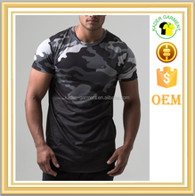 2016 Fashion Design sublimation Cheap Rounded Hem t shirt Wholesale Camo Army T Shirts