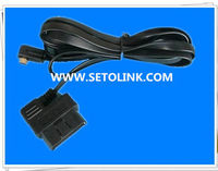 2014 HOT SALE 90 DEGREE OBDII 16 PIN CABLE J1962, WITH MINI USB CONNECTOR