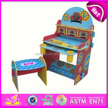 Cute wooden desk,magic desk,student desk and chair for children,lovely design wooden kids study table chair toy wj278367