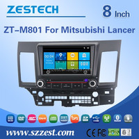 In-dash 8 inch 2 din car gps navigator for Mitsubishi Lancer EX car accessories with car spare parts Steering wheel control MP3
