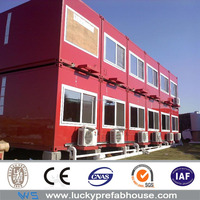 glass wool sandwich panel container hotel design