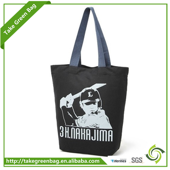 Eco friendly custom shopping bag fashion cotton shoulder bag