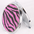 Hot Round PVC Support Customized With Double Side Folding For Promotion And Makeup Pocekt Mirror