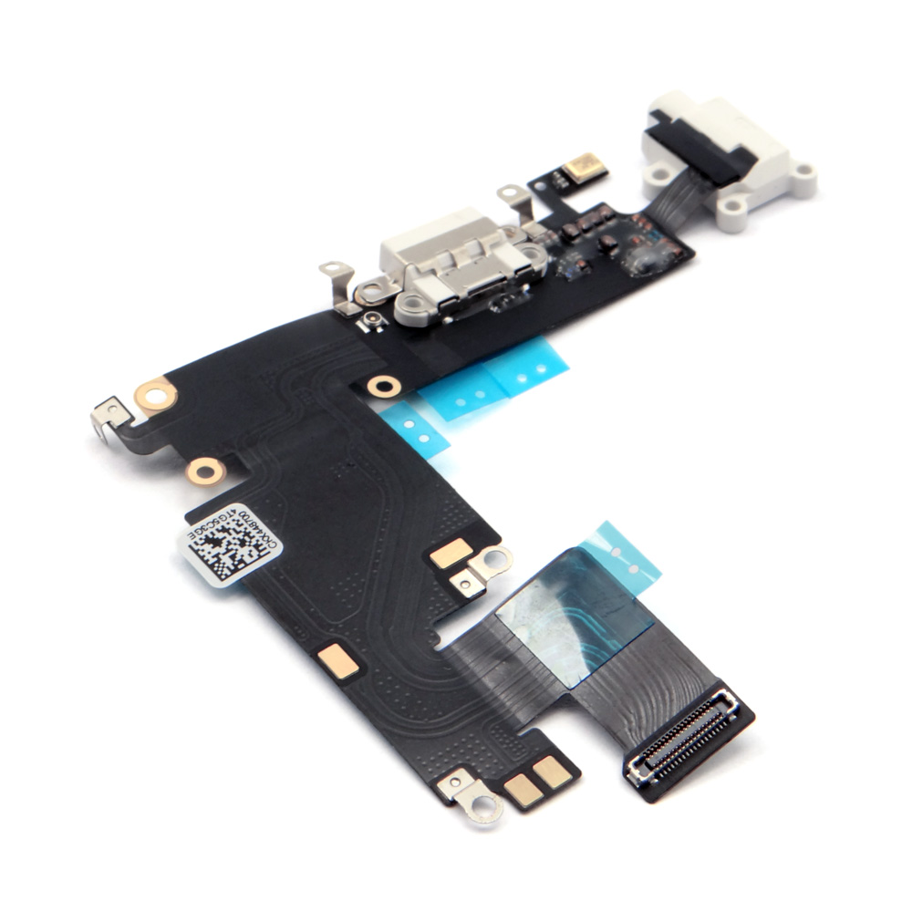 "China supplier for iPhone 6 PLUS 5.5"" White Charging Port Charger Flex Headphone Jack Replacement"