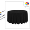 Black 120'' Polyester Table Cloth, Table Linen, Table Cover