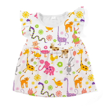Bulk sale fashion kids clothing wear girls beautiful shirts for baby and toddler