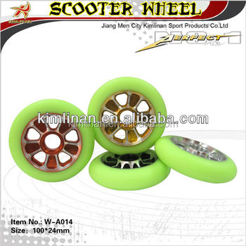 110mm Pro scooter pu wheel, metal core pu wheel, pro scooter wheel