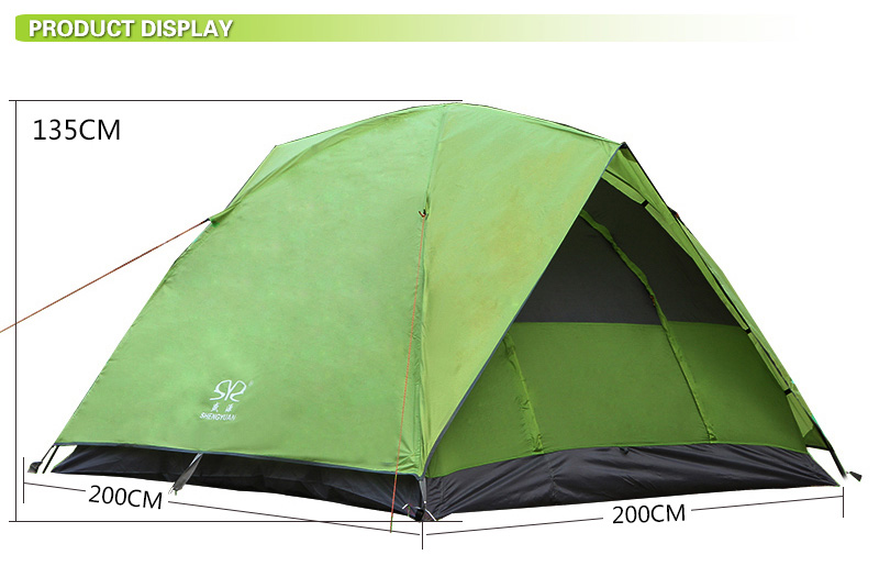 2019 3-4 Person custom Family Waterproof Camping Equipment Tent
