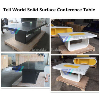 Wood Desk For Meetingartificial Stone Conference Table View Wood - Stone conference table