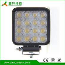 super bright 48w square commercial electric led work light for off road light
