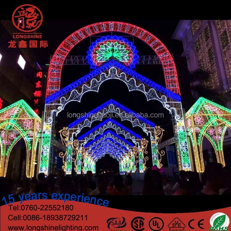 LED Christmas City Across Street Arch Art Motif Decorative Light Display