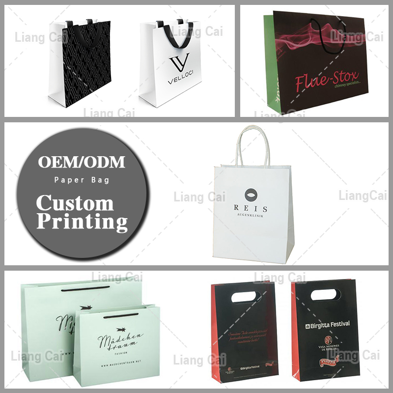 Hot sale free design paper bag white low cost wholesale custom printed paper bags for food