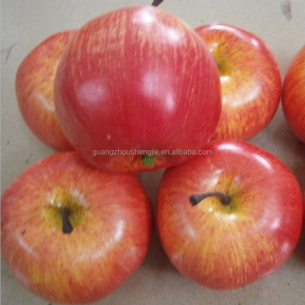 plastic artificial fruits fake apple for decoration