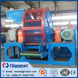Waste Tire Processing Reuse / Used Tyre Recycling Machine / Whole Tire Shredder