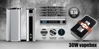 new products 2016 innovative product mox mod 30w led display starter kit e cigarette