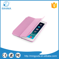 High Quality universal multifunction rose red pu stand leather case for ipad air