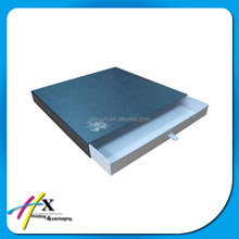 A4 size luxury pearl paper box with pull out drawer
