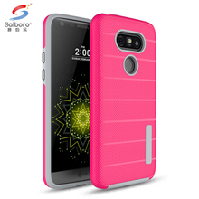 Double 2 layer TPU PC back cover case for lg g5 g3 g6