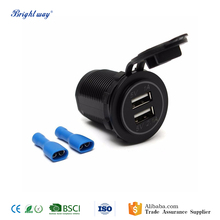 Universal Car Styling multi port Dual USB charger cable Power Adapter Splitter