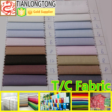 hot sell tc 65 polyester 35 cotton twill fabric for workwear or shirt