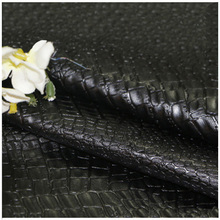 Wholesale Finished products PU embossed fabric crocodile print leather