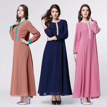 Hot sale free size jubah 2016 simple koreal linen islamic clothing long sleeve muslim women dresses