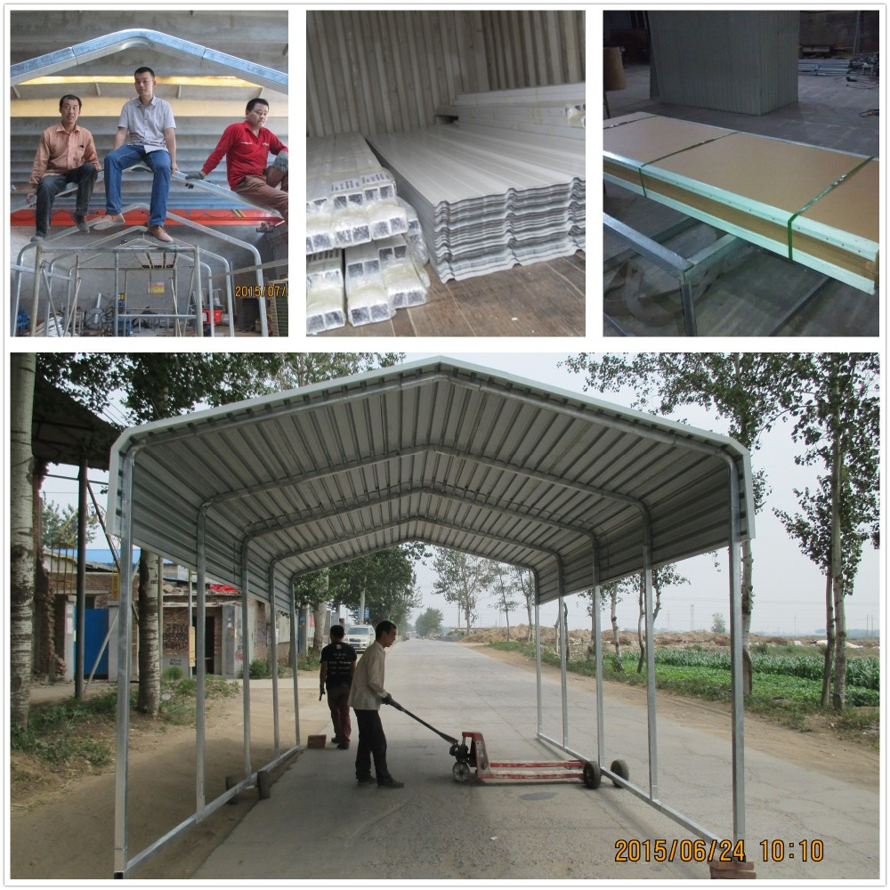 Aluminum Motorcycle Shelter : Metal carport shed with side wall buy steel car