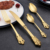 Western Creative hotel high-grade stainless steel tableware set gold/siliver knife fork spoon cutlery flatware