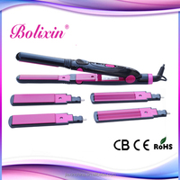 Hot selling product hair iron with 3 sets of changeable plates 200 centigrade