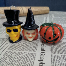 Halloween witch candles, Halloween skull candles, Halloween pumpkin candles