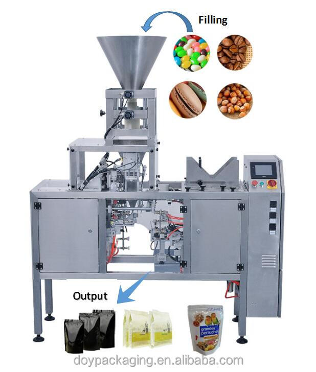 CE Approved doypack pouch small packaging machine for roasted peanuts