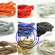HOT SALE 2 CORD TEXTILE COLORFUL braided CABLES cloth covered electrical wire