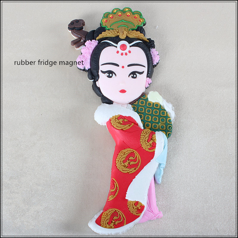 Chinese ancient figures flexible rubber refrigerator magnets