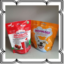 stand up plastic bag dog food bag,dried fruits and nuts packaging bags with zipper