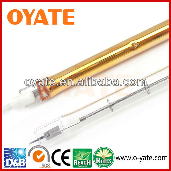 Gold jacket shortwave infrared paint curing lamp