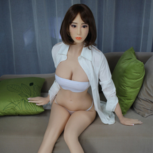 Life Sized Medical TPE Silicone Japanese Young Girl Sex Doll with Skeleton