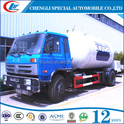 Dongfeng HOWO 5000Liters LPG Tank Truck With Dispenser Bobtail for Cooking Gas For Sales
